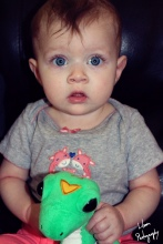 I could take hundreds of pictures of these big blue eyes and still never have enough.